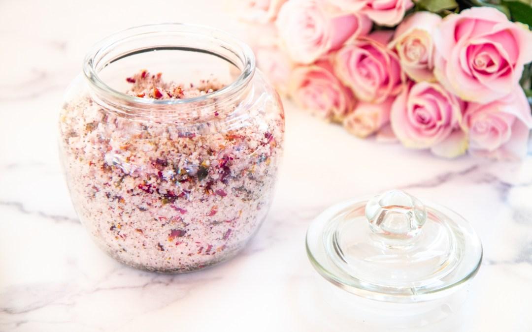 DIY ROSE PETAL GREEN TEA BODY SCRUB