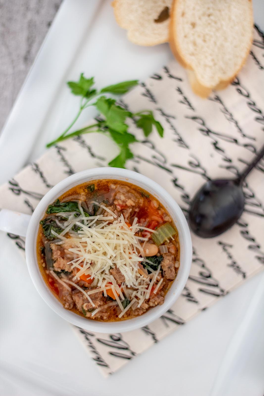 Kale Sausage and white bean soup recipe