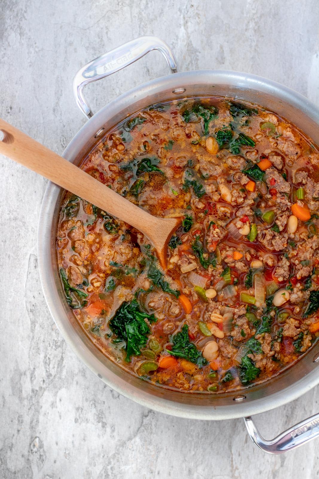 Kale Sausage & White Bean Soup