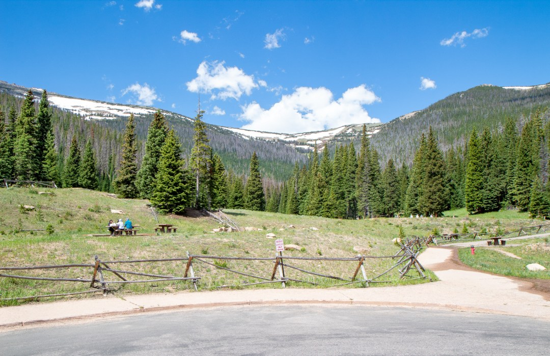 Hidden Valley Picnic Area in Rocky Mountain National Park