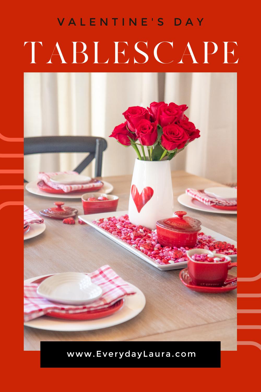 Valentine's Day tablescape idea