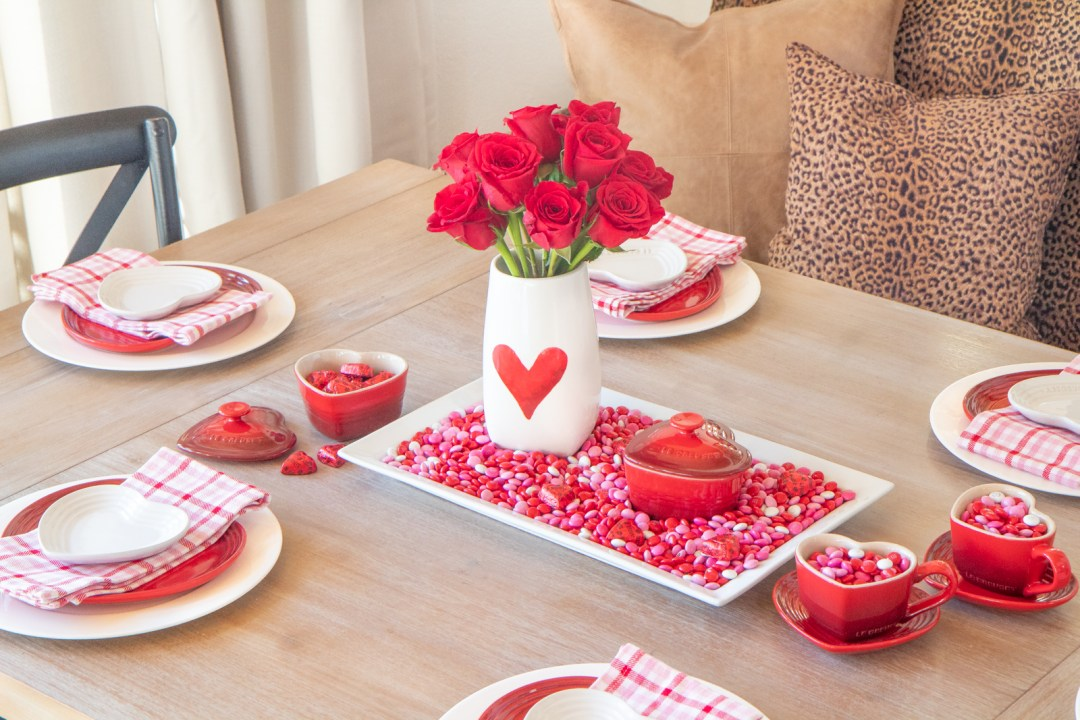 Heart candy tablescape