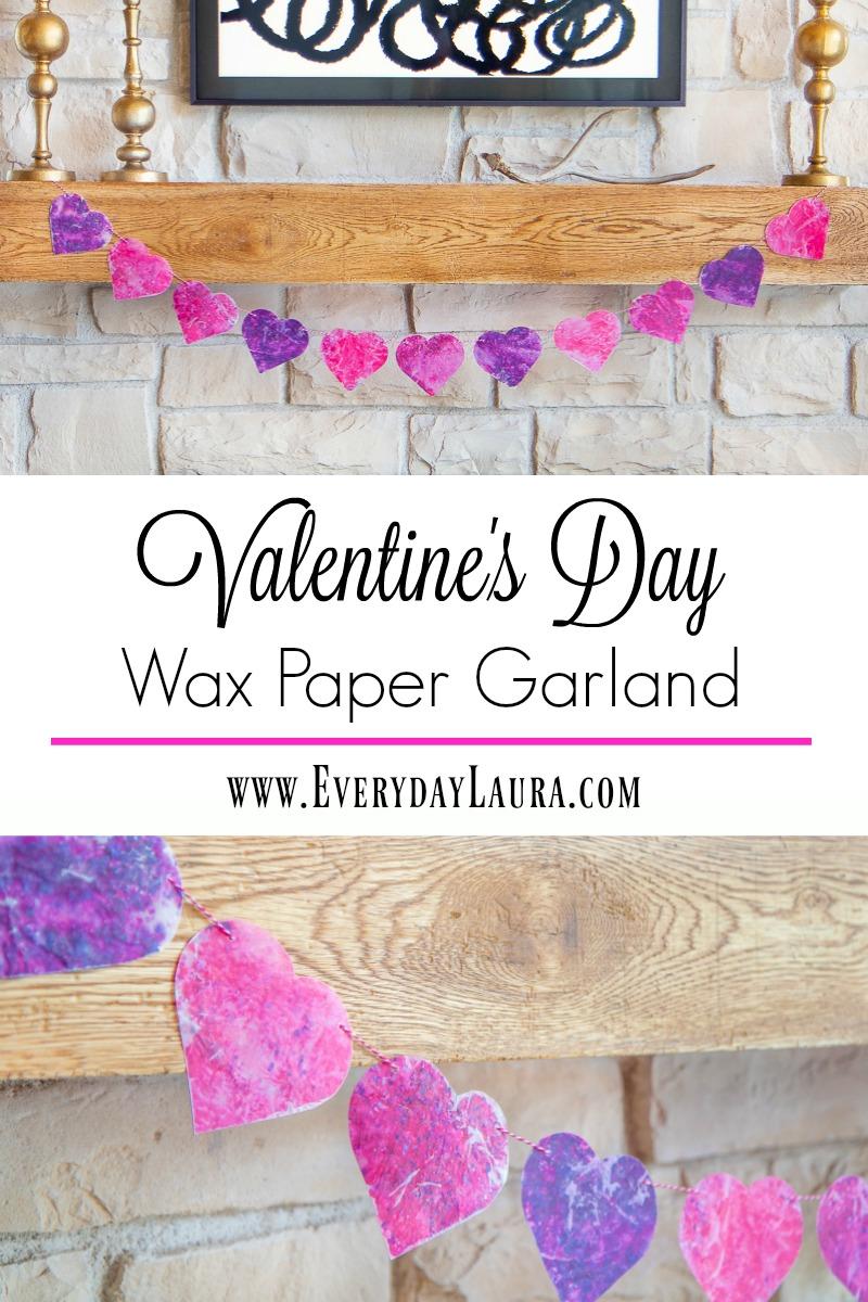 DIY Valentines Day Garland