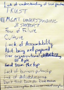 Reasons for Agile Failure. Notice that the most common item mentioned was management understanding and support. Image courtesy Michael Sahota