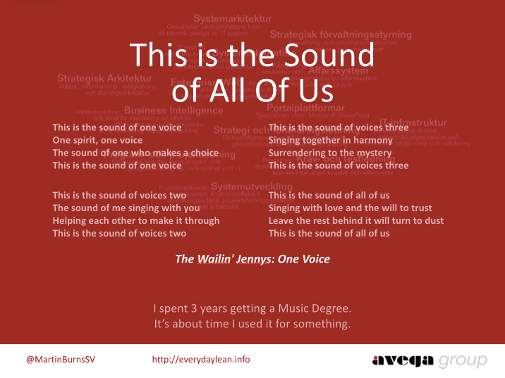 This is the Sound of All Of Us
