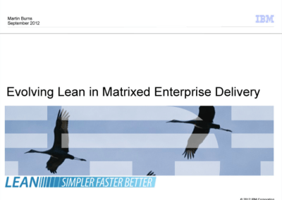IBM: Evolving Lean in Enterprise Delivery