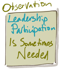 Observation: Leadership Participation is Sometimes Needed