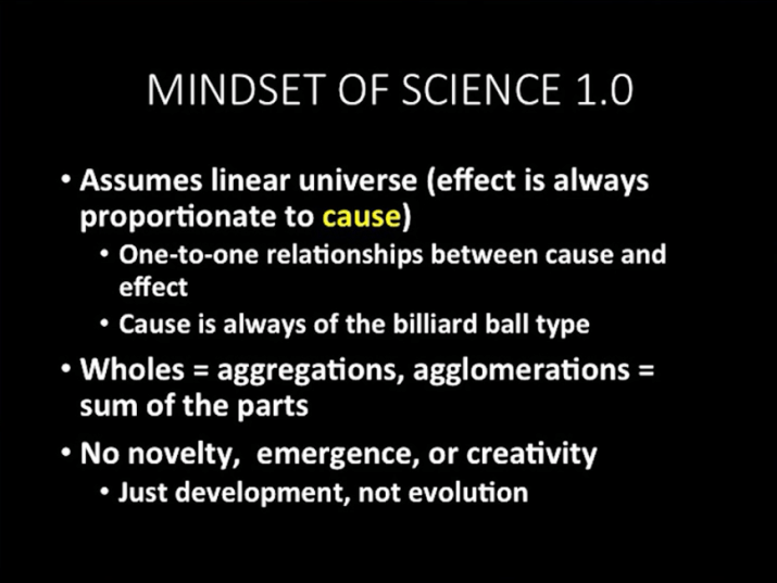 Science 1.0 Mindset by Alicia Juarrero, from LeanAgile Scotland 2015