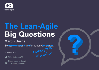 The Lean-Agile Big Questions