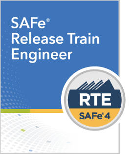 SAFe Release Train Engineer cover and badge