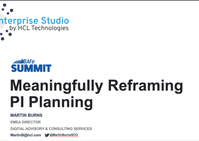 Lightning Talk: Meaningfully Reframing PI Planning