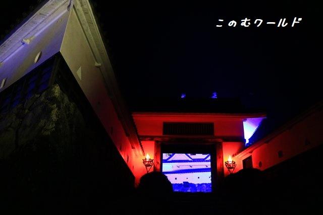 郡上八幡城の紅葉ライトアップ