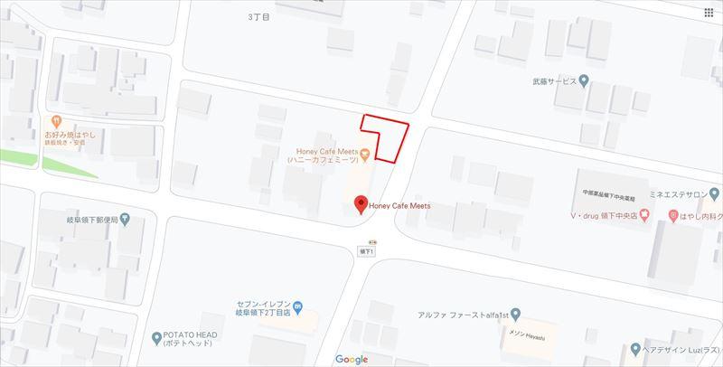 Honey cafe Meets 駐車場地図