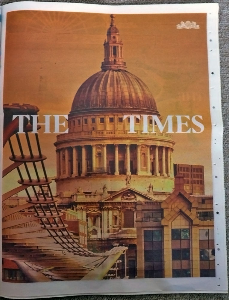 The Times Newspaper Ad