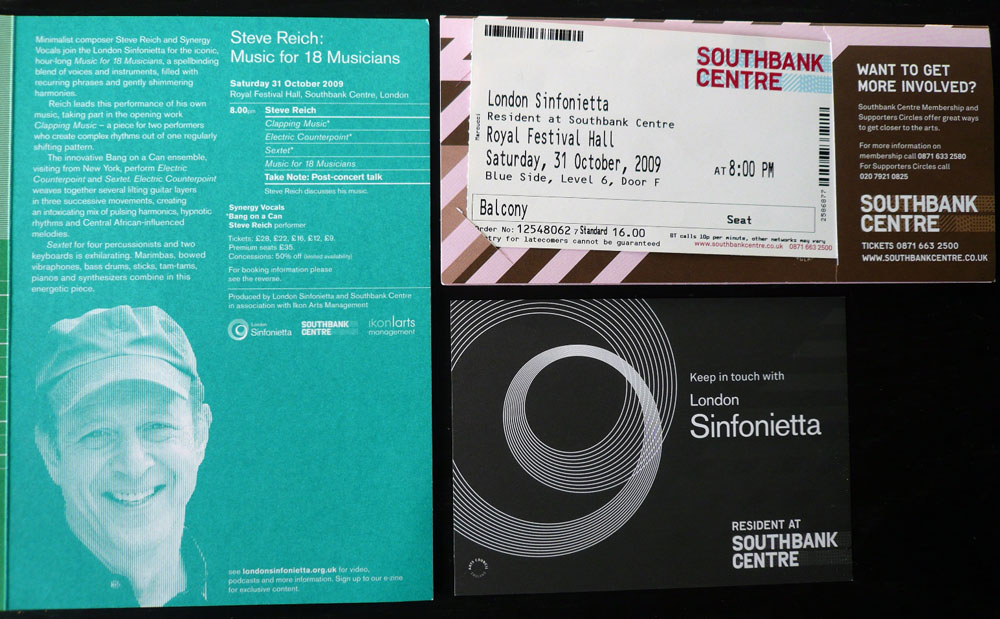 London Sinfonietta: Steve Reich