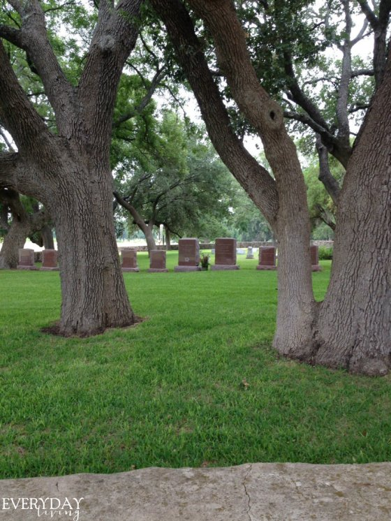 Burial site of President Johnson and Lady Bird