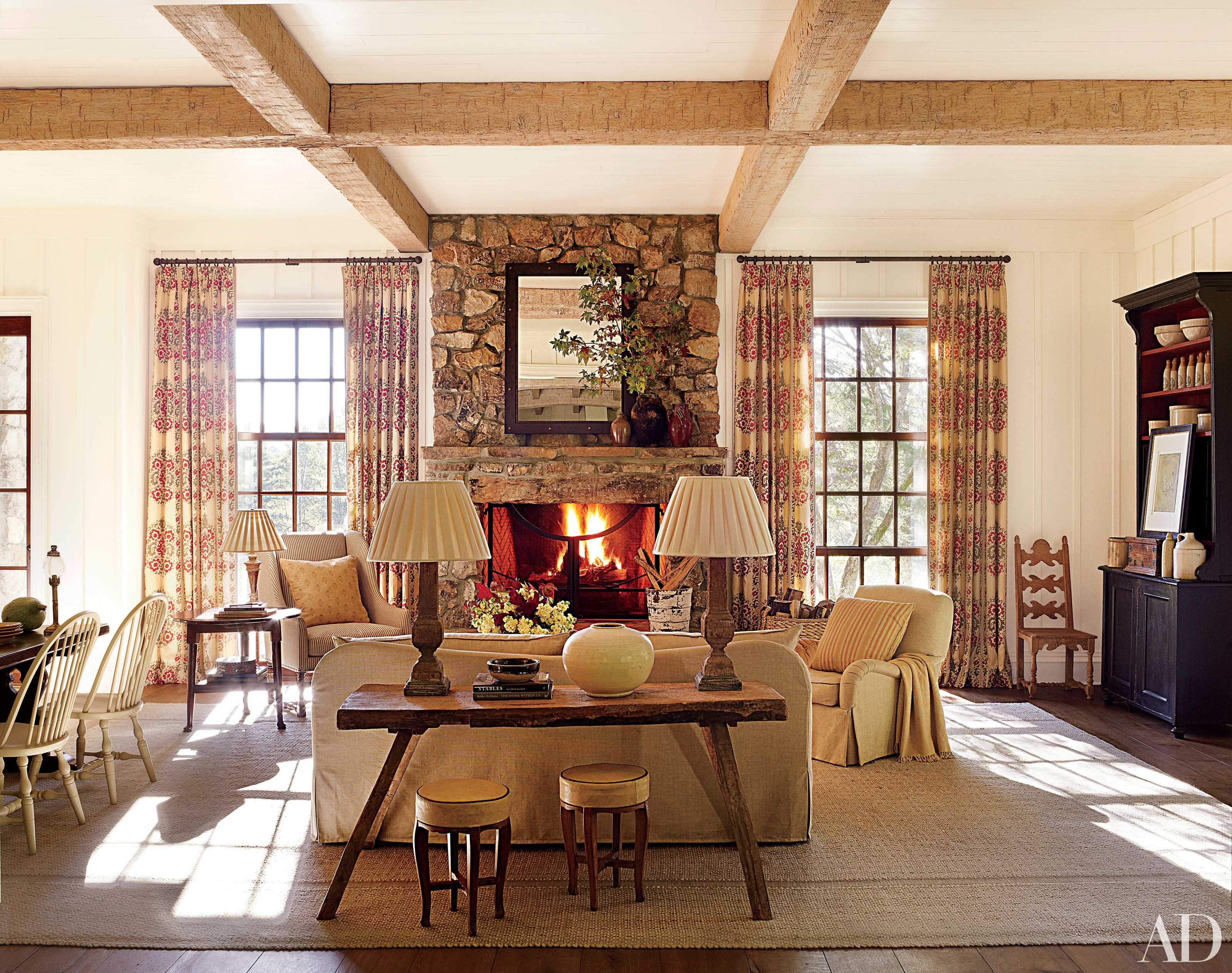 Inviting Spaces  Cozy Fireplaces