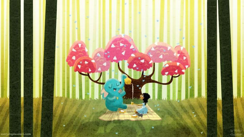 The Cake Tree Everyday Love Art The Art Of Nidhi Chanani