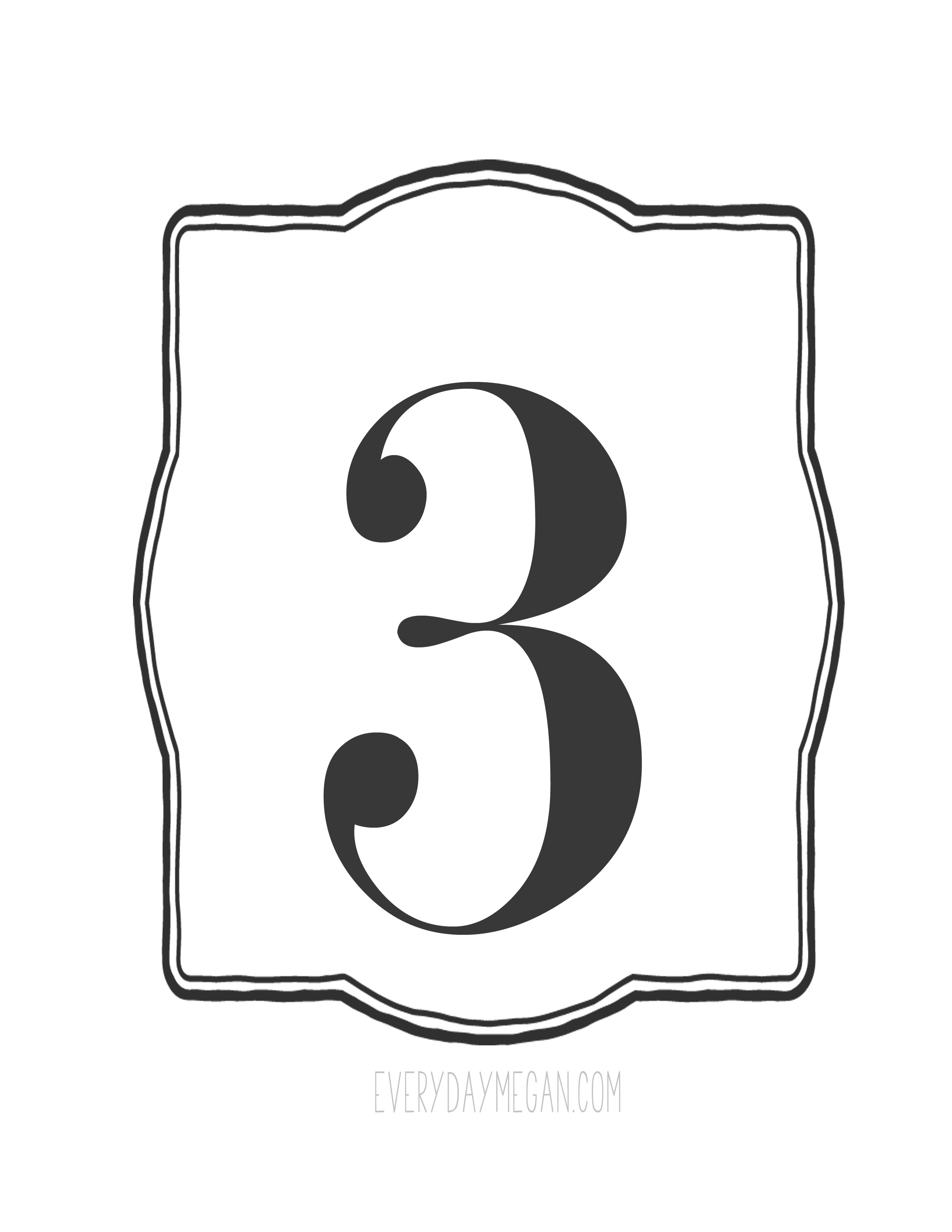 Number 4 Printable That Are Selective