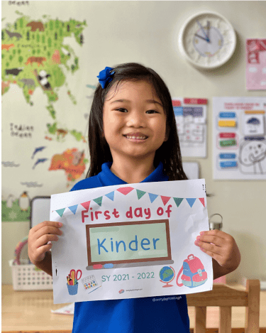 Proud Kinder student