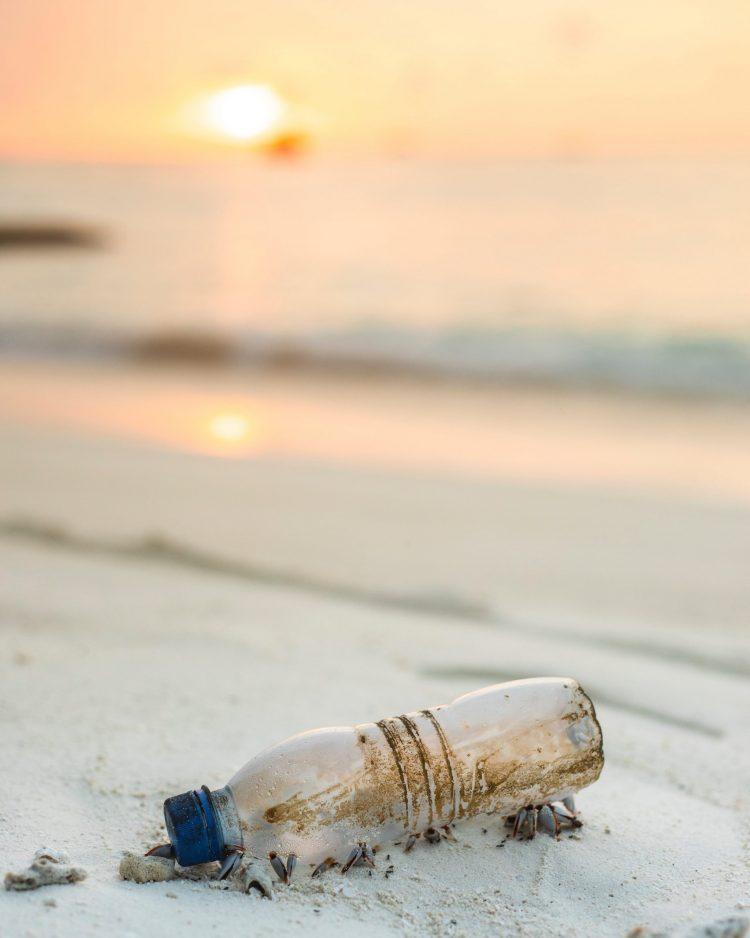 Groen duurzaam plastic