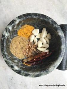 malabar spinach chutney ingredients