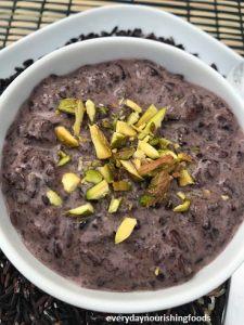 Black rice kheer or payasam