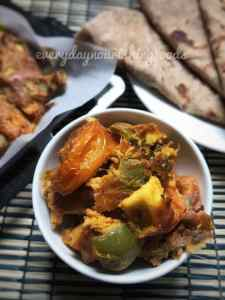 Baked paneer besan curry recipe