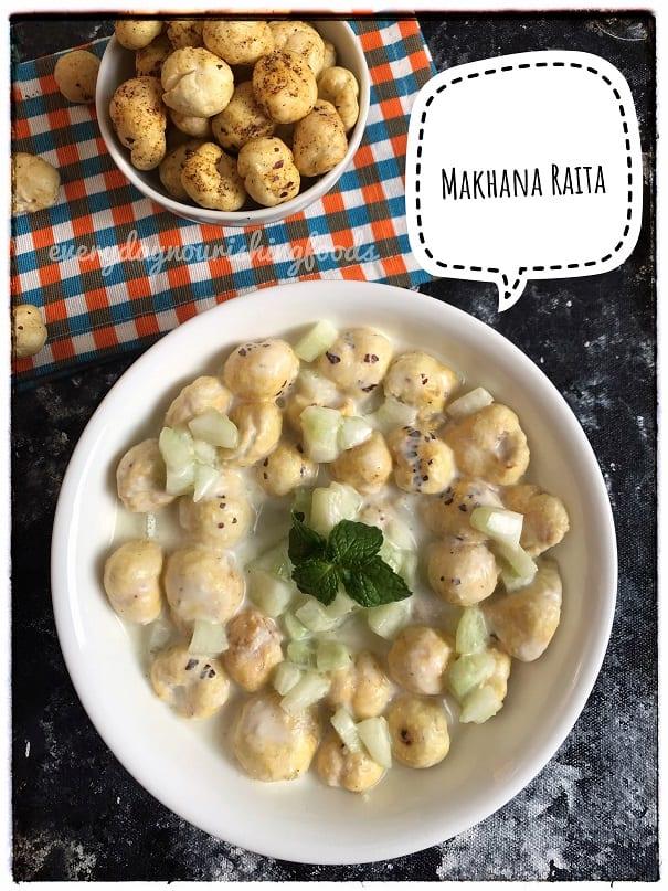 Makhana raita recipe