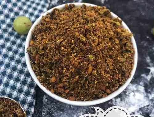 Amla dry chutney powder recipe - Usiri karampodi
