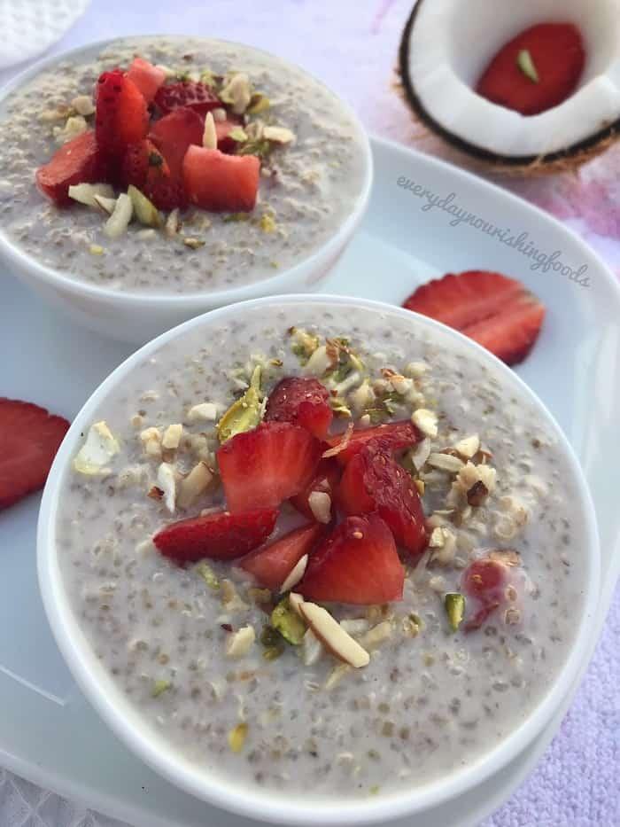 Quinoa kheer - Quinoa pudding with strawberries recipe