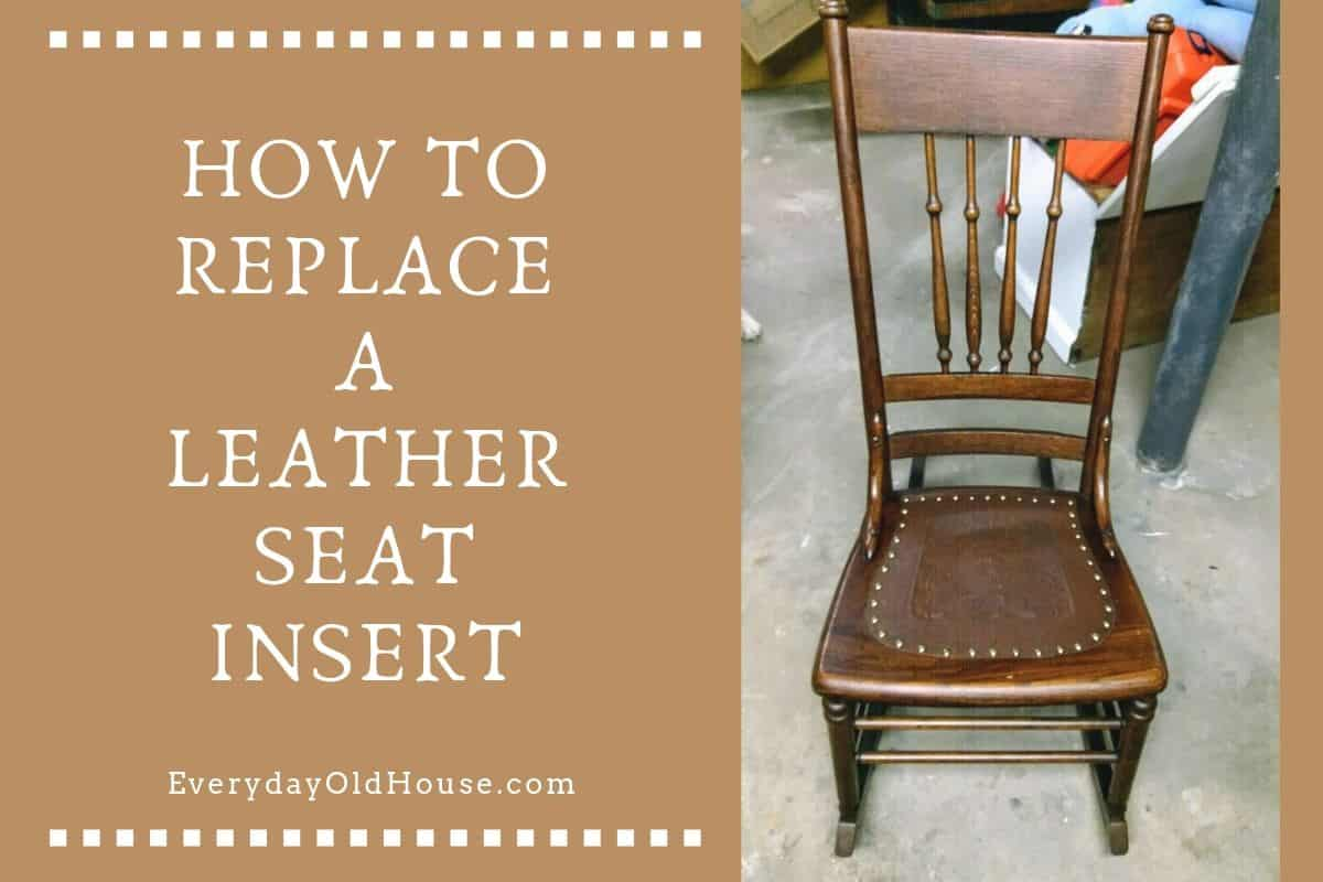 fixing wooden chairs swivel chair for office how to replace a leather seat in an antique everyday old house
