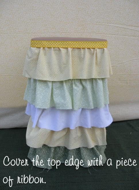 ruffle cake stand DIY 4