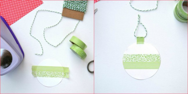 Everyday Party Magazine 2 step DIY Christmas Tag