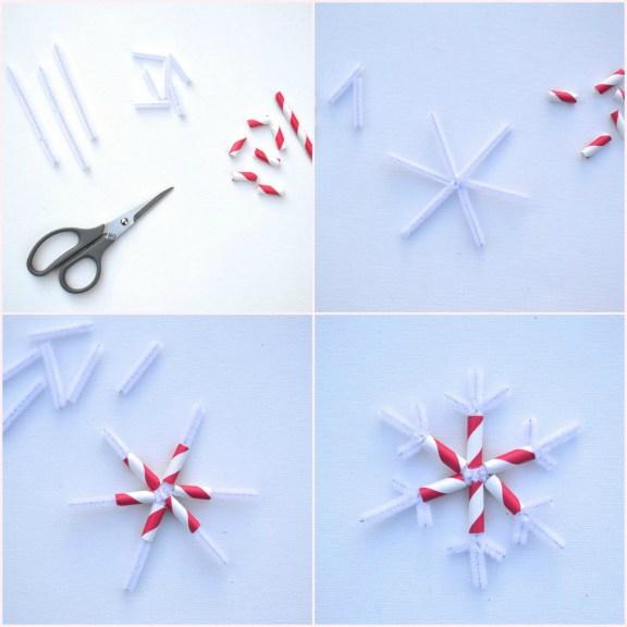 Everyday Party Magazine DIY Joy Mini Bunting Snowflake