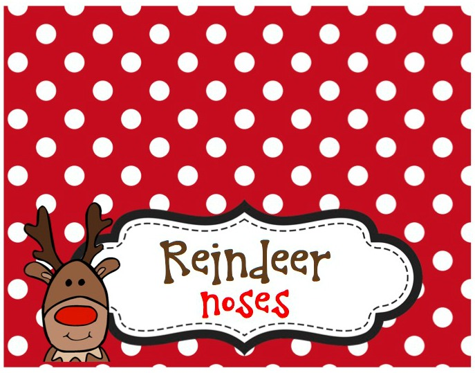 Reindeer Nose Free Bag Topper Everyday Party Magazine