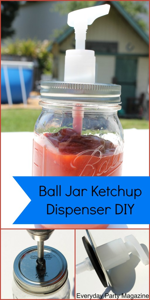 Everyday Party Magazine Ball Canning Jar Dispenser DIY