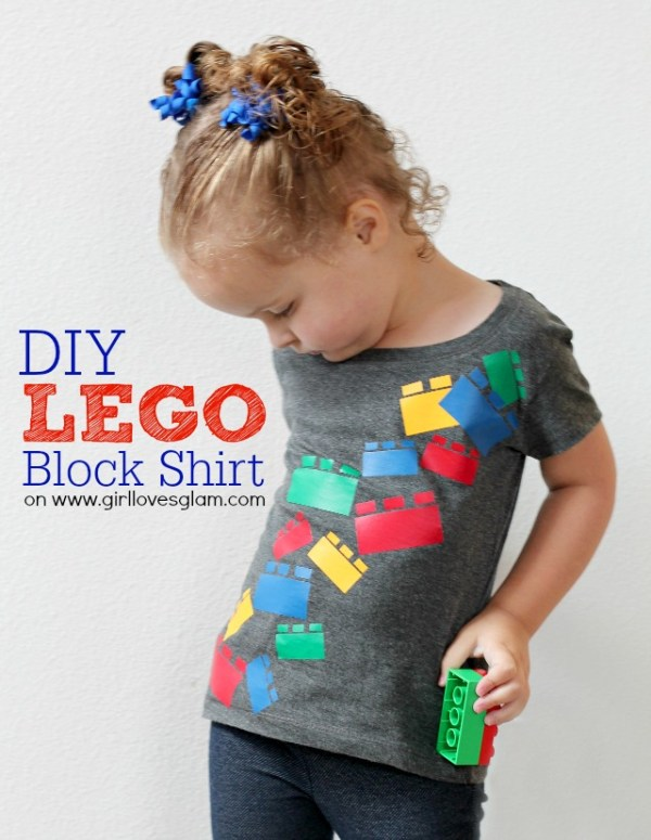 DIY Lego Block Shirt-Girl Loves Glam
