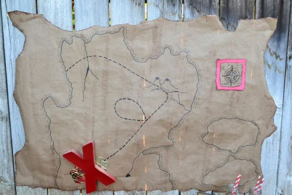 Everyday Party Magazine Pirate Party Backdrop DIY