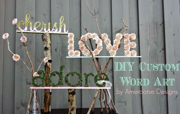 Everyday Party Magazine Custom Wedding Word Art by Ameroonie Designs