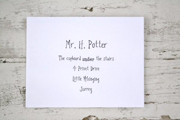 Everyday Party Magazine Harry Potter Mail Backdrop DIY