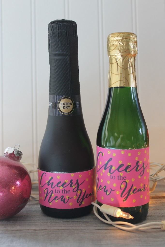 Cheers to the New Year Champagne Bottles