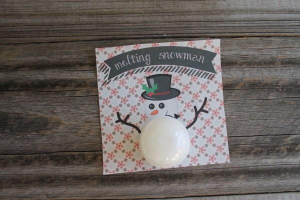 Everyday Party Magazine Melting Snowman Printable