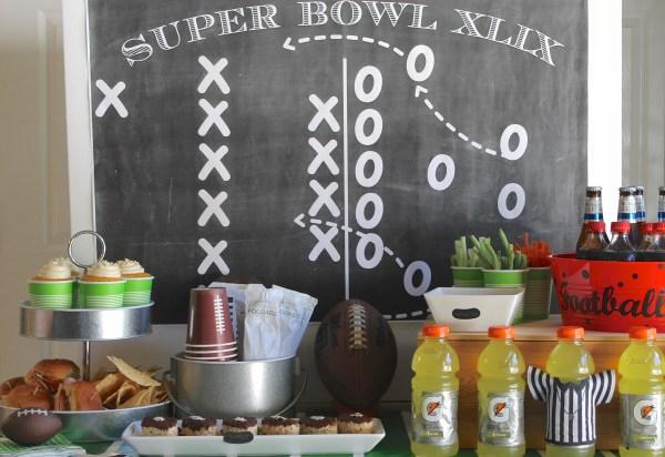 Everyday Party Magazine Super Bowl Backdrop