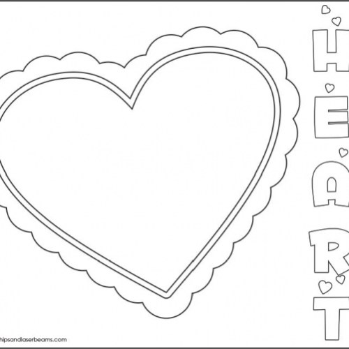 Spaceships and Laser Beams free-kids-valentines-day-heart-coloring-page