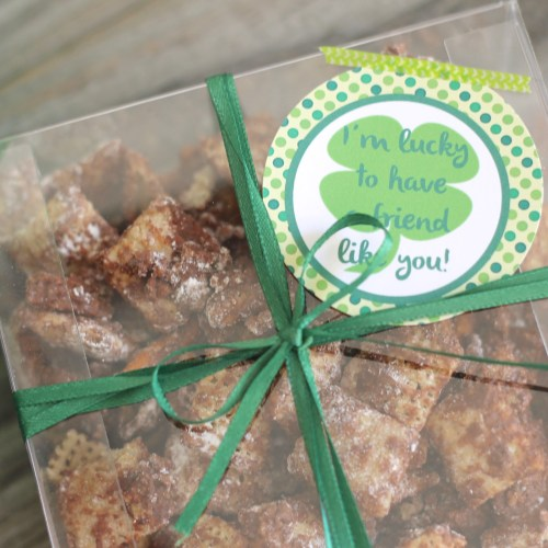 Chocolate Mint Muddy Buddies & Free Printable Tag Everyday Party Magazine
