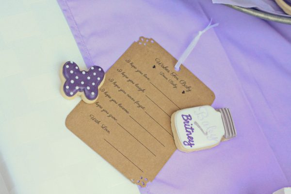 Lavender Butterfly Baby Shower by 4 Kids Cakes on Everyday Party Magazine