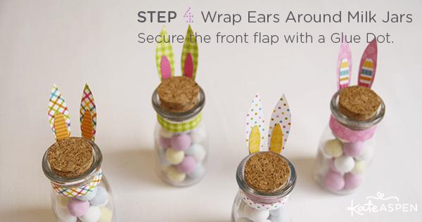 DIY Easter Bunny Milk Jar Favor by Kate Aspen on Everyday Party Magazine