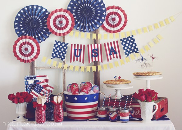 Everyday Party Magazine 4th of July Printable Round Up Three Little Monkeys Studio 4th of July Printables