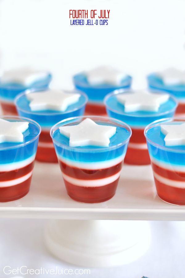 Fun 4th of July Recipes on Everyday Party Magazine Creative Juice Red, White, and Blue Jello